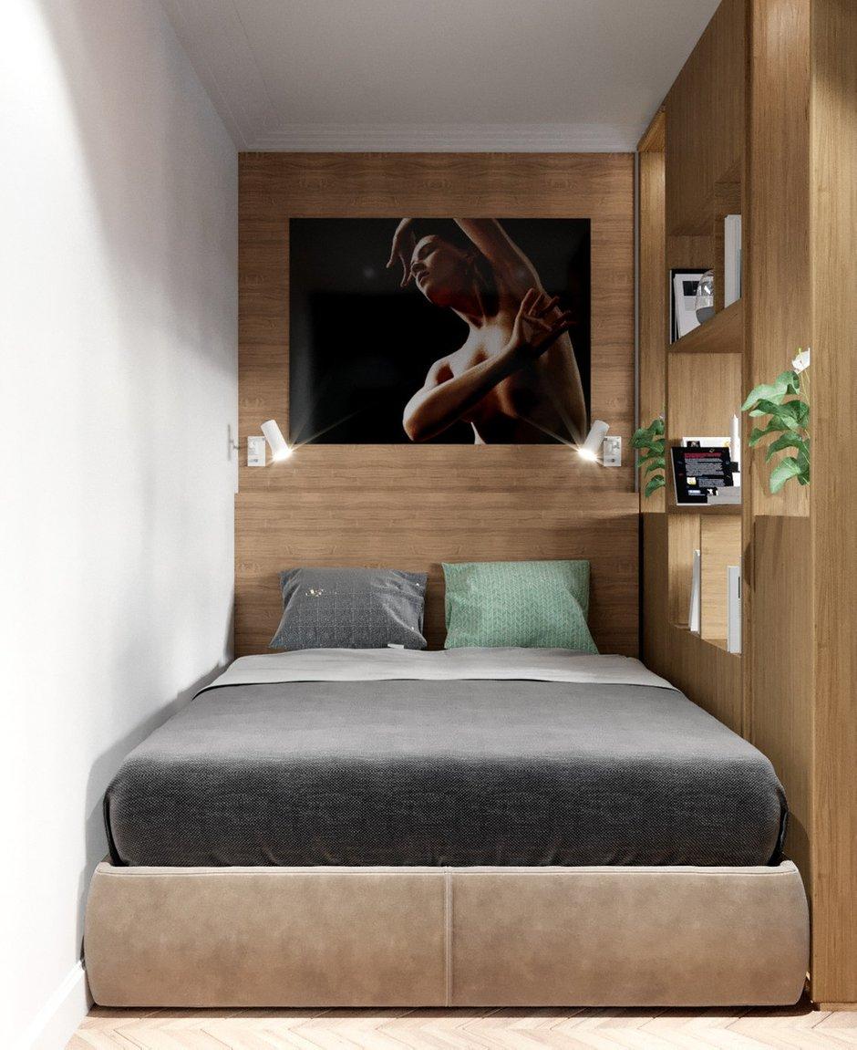 Фотография: Спальня в стиле Современный, Квартира, Студия, Проект недели, Панельный дом, до 40 метров, Анна Симонова, Anna Simonova Interiors, II-68-04 – фото на INMYROOM