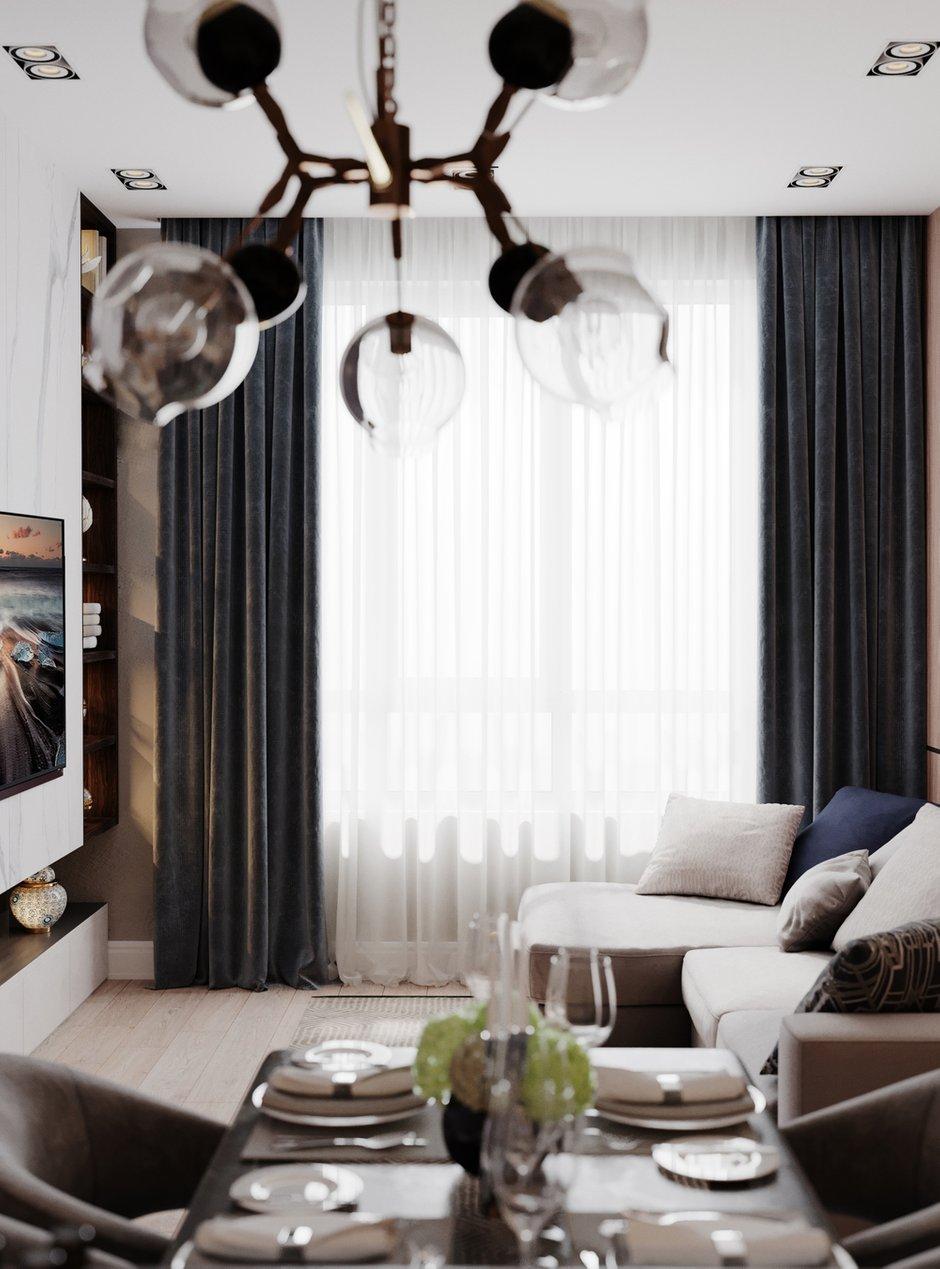 Фотография: Гостиная в стиле Современный, Квартира, Проект недели, Samsung, Монолитный дом, 3 комнаты, 60-90 метров, ЖК Headliner, Леся Печенкина – фото на INMYROOM