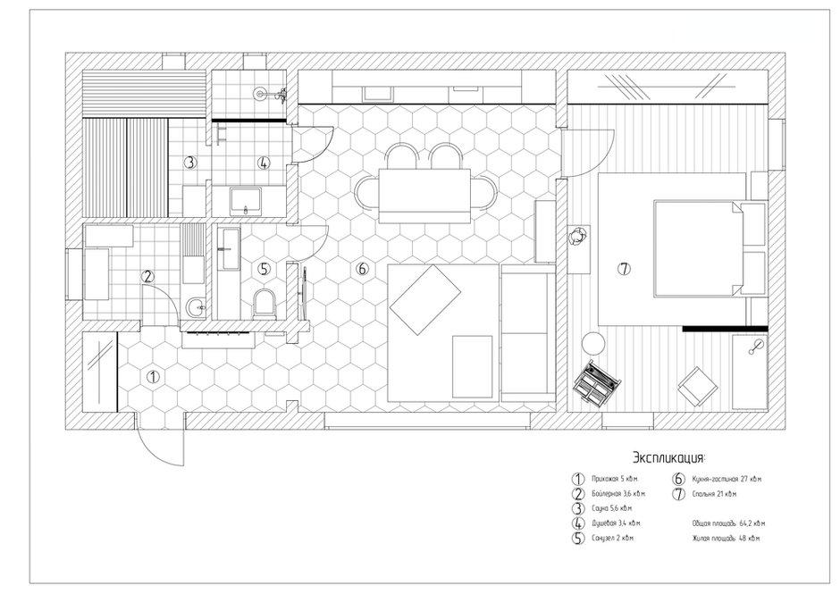 Фотография: Планировки в стиле , Современный, Дом, Проект недели, Дом и дача, Истринский район, 2 комнаты, 60-90 метров, Дарья Власова – фото на INMYROOM