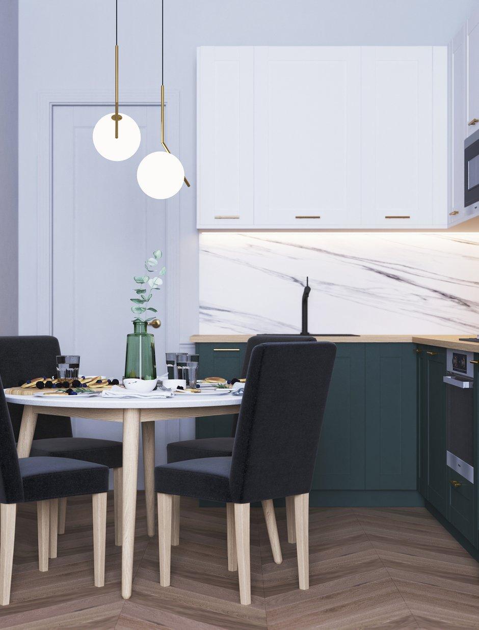 Фотография: Кухня и столовая в стиле Современный, Квартира, Проект недели, Санкт-Петербург, 2 комнаты, 40-60 метров, Bobo.space – фото на INMYROOM