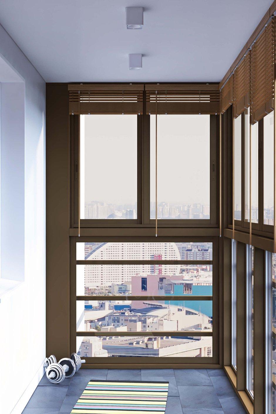 Фотография: Балкон в стиле Современный, Лофт, Квартира, Проект недели, Одинцово, Geometrium, Московская область, Монолитный дом, 2 комнаты, 60-90 метров – фото на InMyRoom.ru