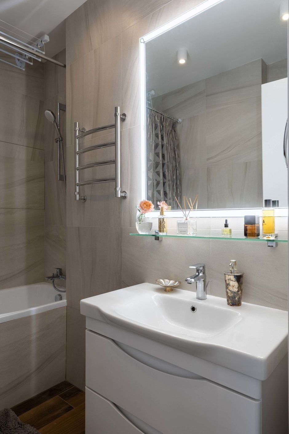 Фотография: Ванная в стиле Современный, Квартира, Проект недели, Москва, 2 комнаты, до 40 метров, Наталья Мукасьян – фото на INMYROOM