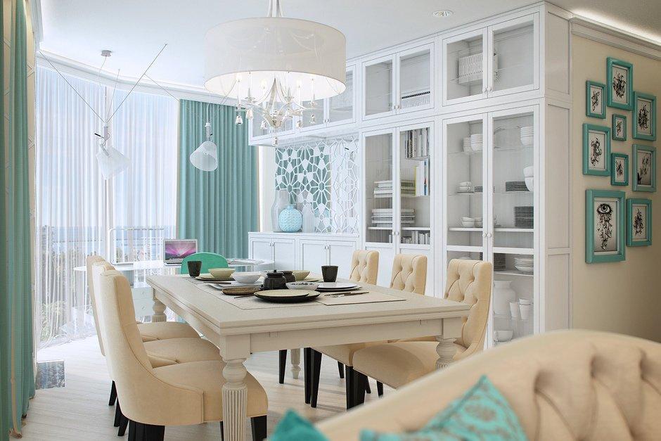 Фотография: Кухня и столовая в стиле Классический, Квартира, Проект недели, Гид, Квартира у моря – фото на INMYROOM