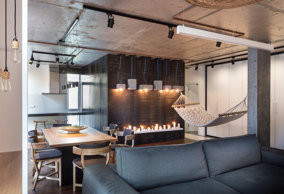 Фотография: Гостиная в стиле Лофт, Квартира, Проект недели, Киев, новостройка, Монолитный дом, 2 комнаты, 60-90 метров – фото на INMYROOM
