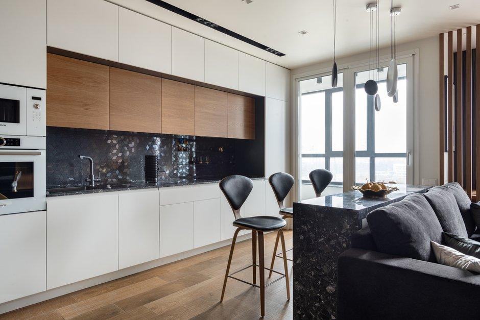 Фотография: Кухня и столовая в стиле Современный, Квартира, Проект недели, 2 комнаты, 40-60 метров, Александра Гартке – фото на INMYROOM