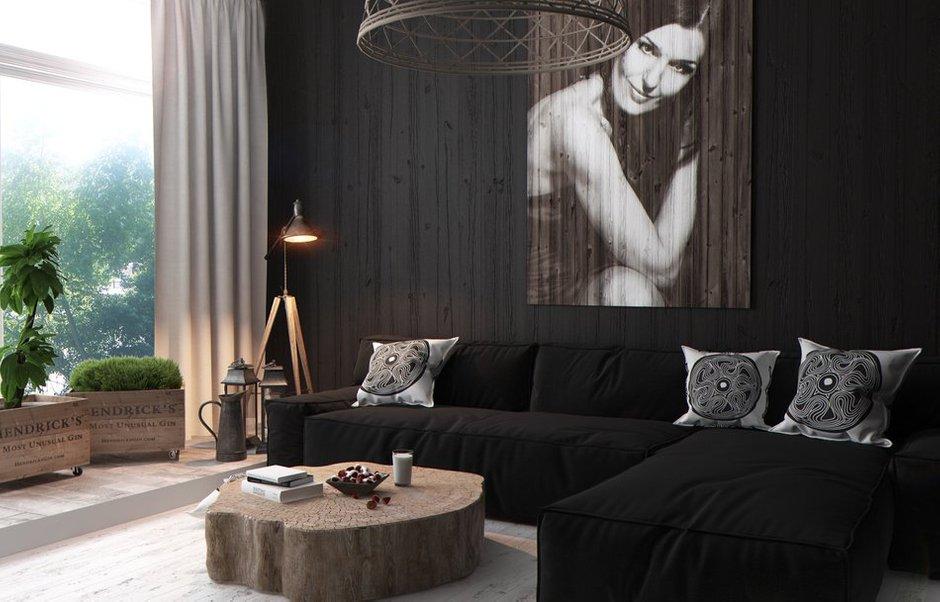 Фотография: Гостиная в стиле Восточный, Квартира, Дома и квартиры, Перепланировка, Переделка – фото на INMYROOM