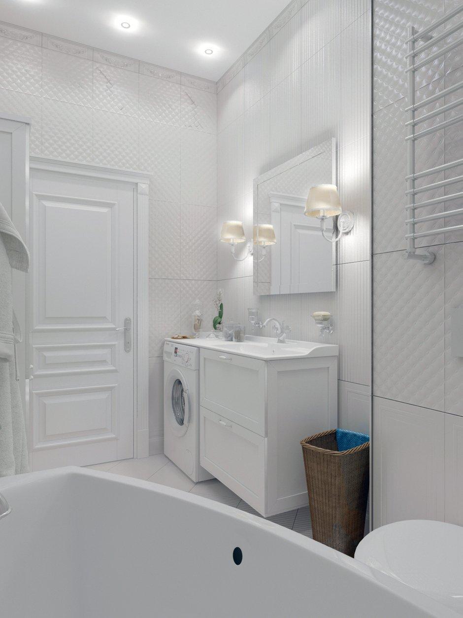 Фотография: Ванная в стиле Классический, Квартира, Проект недели, Москва, кухня-гостиная, новостройка, Елизавета Корешкова, Beau Interiors, гостиная в прихожей, Монолитный дом, 2 комнаты, 40-60 метров – фото на INMYROOM