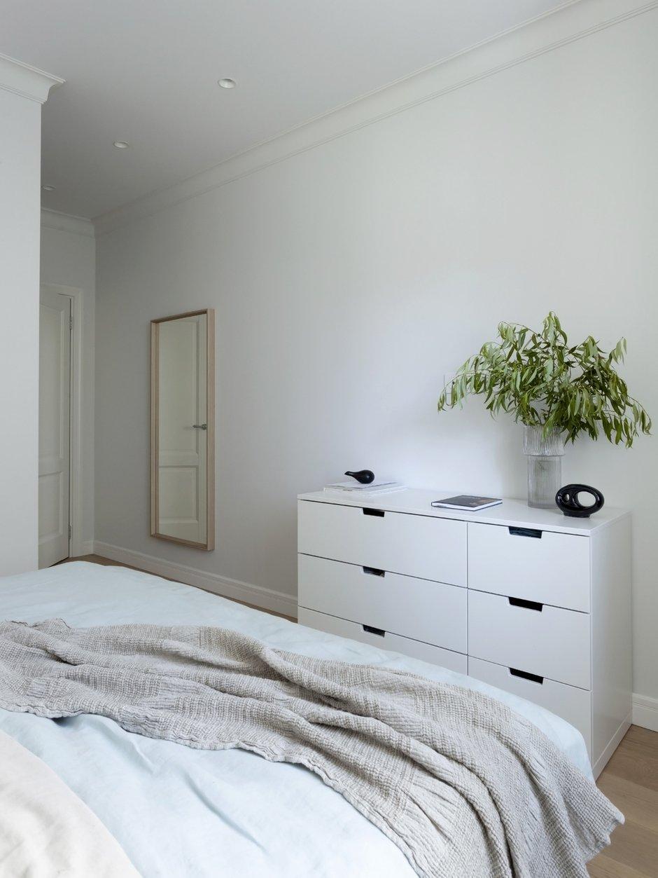 Фотография: Спальня в стиле Скандинавский, Квартира, Проект недели, Санкт-Петербург, 3 комнаты, 60-90 метров, Светлана Куксова – фото на INMYROOM