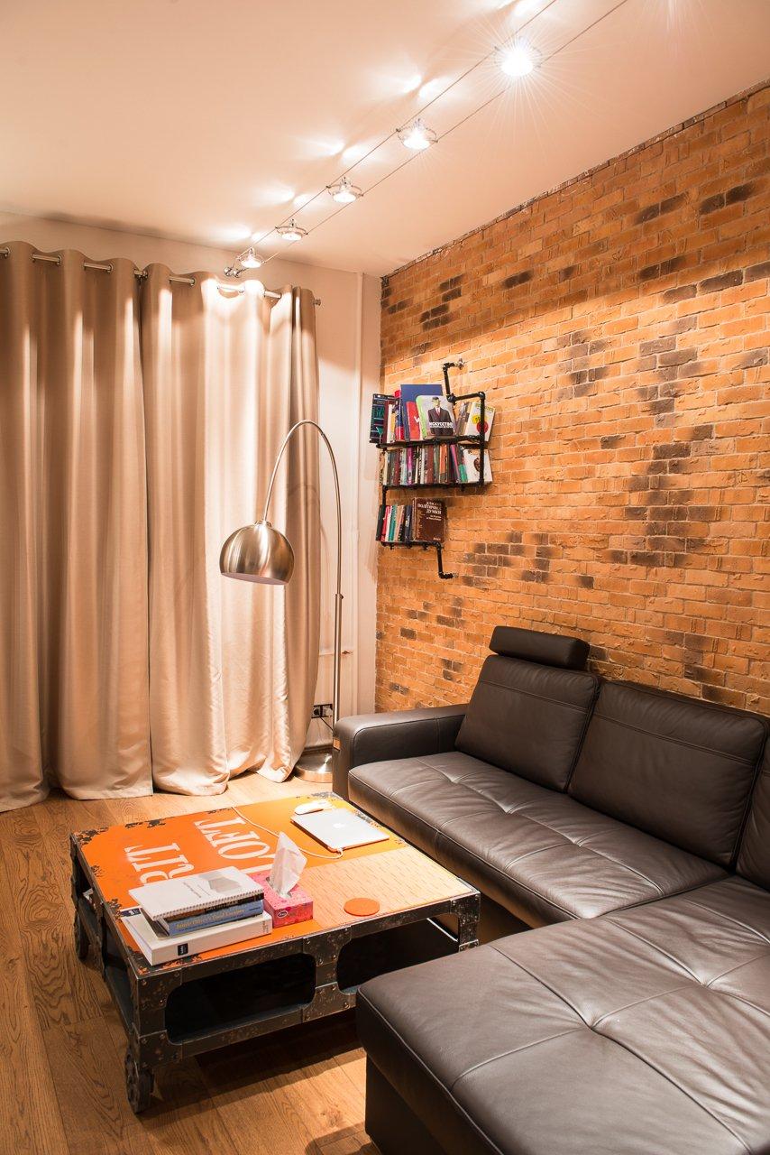Фотография: Гостиная в стиле Лофт, Квартира, Дома и квартиры, Киев – фото на INMYROOM