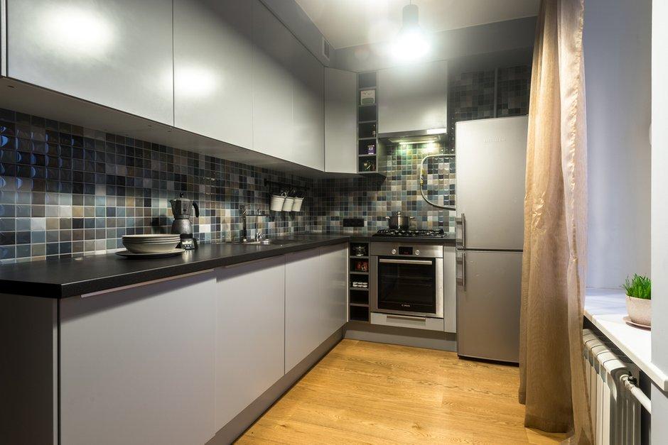 Фотография:  в стиле , Квартира, Проект недели, Москва, Кирпичный дом, 2 комнаты, 60-90 метров – фото на INMYROOM