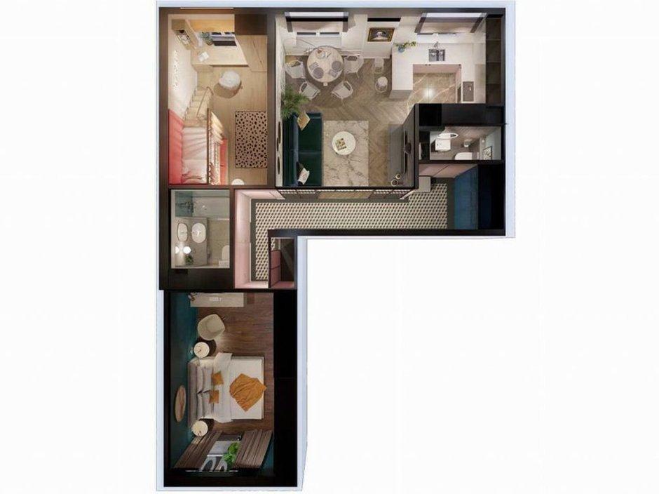 Фотография: Планировки в стиле , Современный, Квартира, Проект недели, Видное, 3 комнаты, 60-90 метров, Дмитрий Удовицкий – фото на INMYROOM