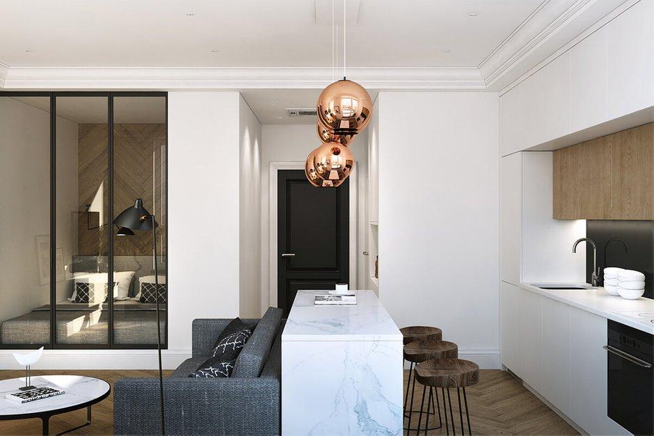 Фотография: Кухня и столовая в стиле Современный, Квартира, Проект недели, Geometrium, ЖК «Филиград» – фото на INMYROOM