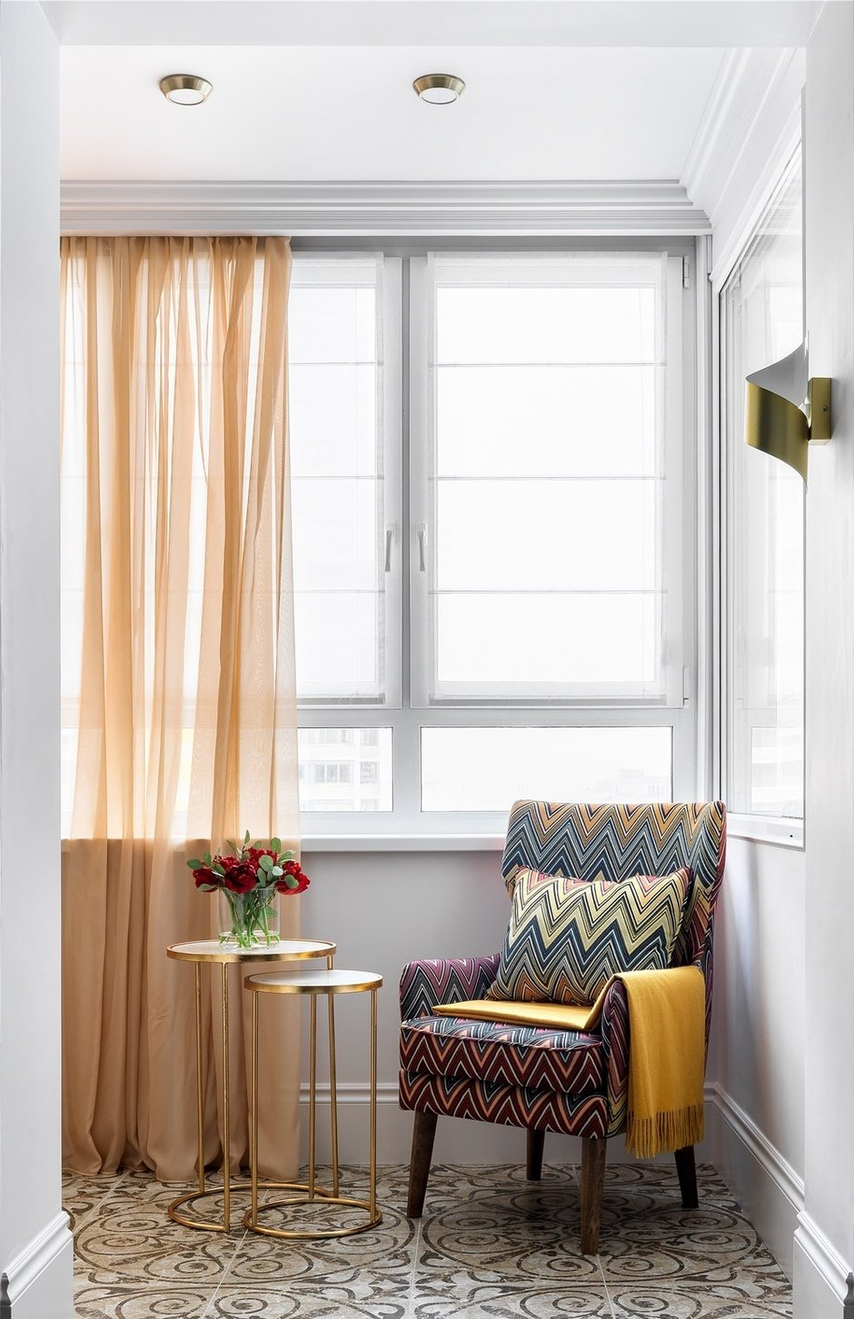 Фотография: Балкон в стиле Современный, Квартира, Проект недели, Москва, Монолитный дом, 1 комната, 40-60 метров, Серж Махов – фото на INMYROOM