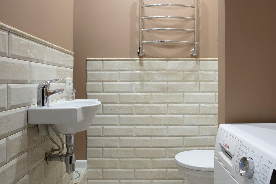 Фотография: Ванная в стиле Прованс и Кантри, Квартира, Проект недели, Балашиха, Монолитный дом, 2 комнаты, 60-90 метров, Анна Елина – фото на InMyRoom.ru