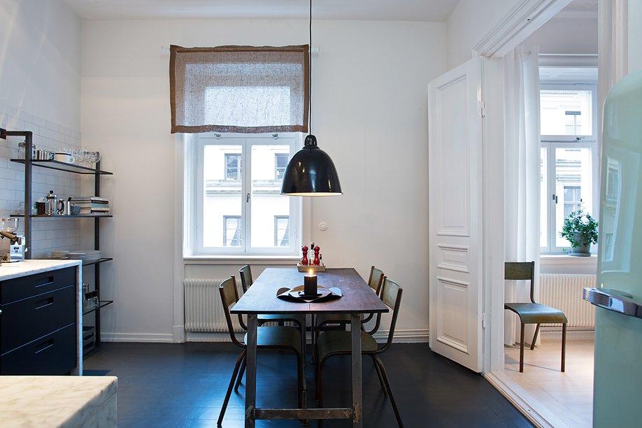 Фотография: Кухня и столовая в стиле Современный, Скандинавский, Малогабаритная квартира, Квартира, Дома и квартиры, Стокгольм – фото на INMYROOM