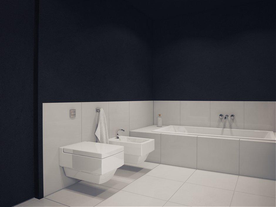 Фотография: Ванная в стиле Современный, Хай-тек, Квартира, Дома и квартиры, Минимализм – фото на INMYROOM