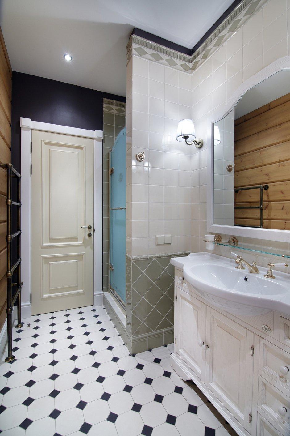 Фотография: Ванная в стиле Прованс и Кантри, Дом, Дома и квартиры, Проект недели, Дача, dom-iz-brusa – фото на INMYROOM