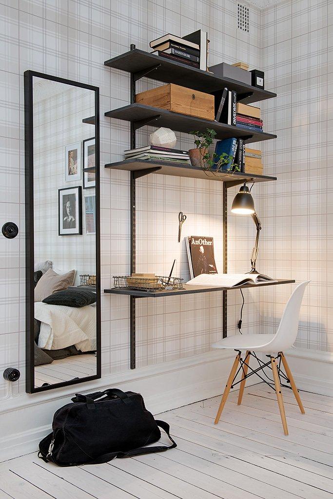 Фотография: Офис в стиле Скандинавский, Малогабаритная квартира, Квартира, Швеция, Дома и квартиры – фото на INMYROOM