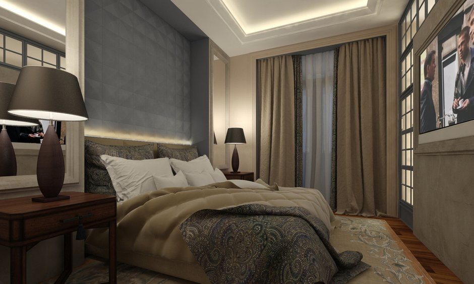 Фотография: Спальня в стиле , Квартира, Дома и квартиры, Проект недели, Переделка – фото на INMYROOM