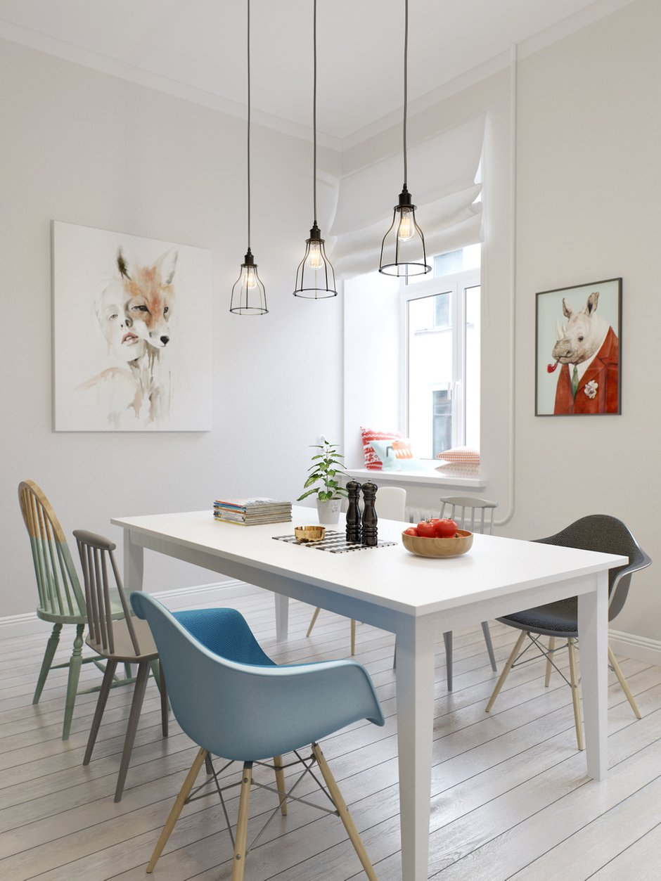 Фотография: Кухня и столовая в стиле Скандинавский, Квартира, Дома и квартиры, Проект недели – фото на INMYROOM