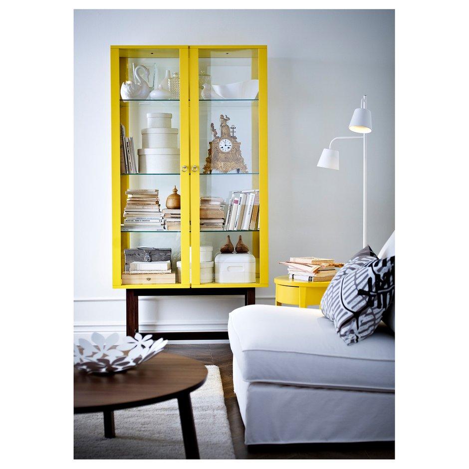 Фотография: Гостиная в стиле Скандинавский, Современный, Декор интерьера, Декор дома, Цвет в интерьере, IKEA, Зеленый, Желтый – фото на INMYROOM