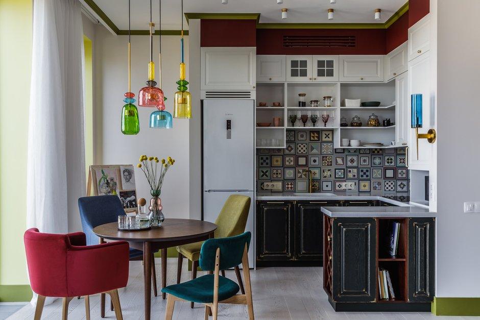 Фотография: Кухня и столовая в стиле Современный, Эклектика, Квартира, Проект недели, Москва, 3 комнаты, 60-90 метров, Анастасия Струве – фото на INMYROOM