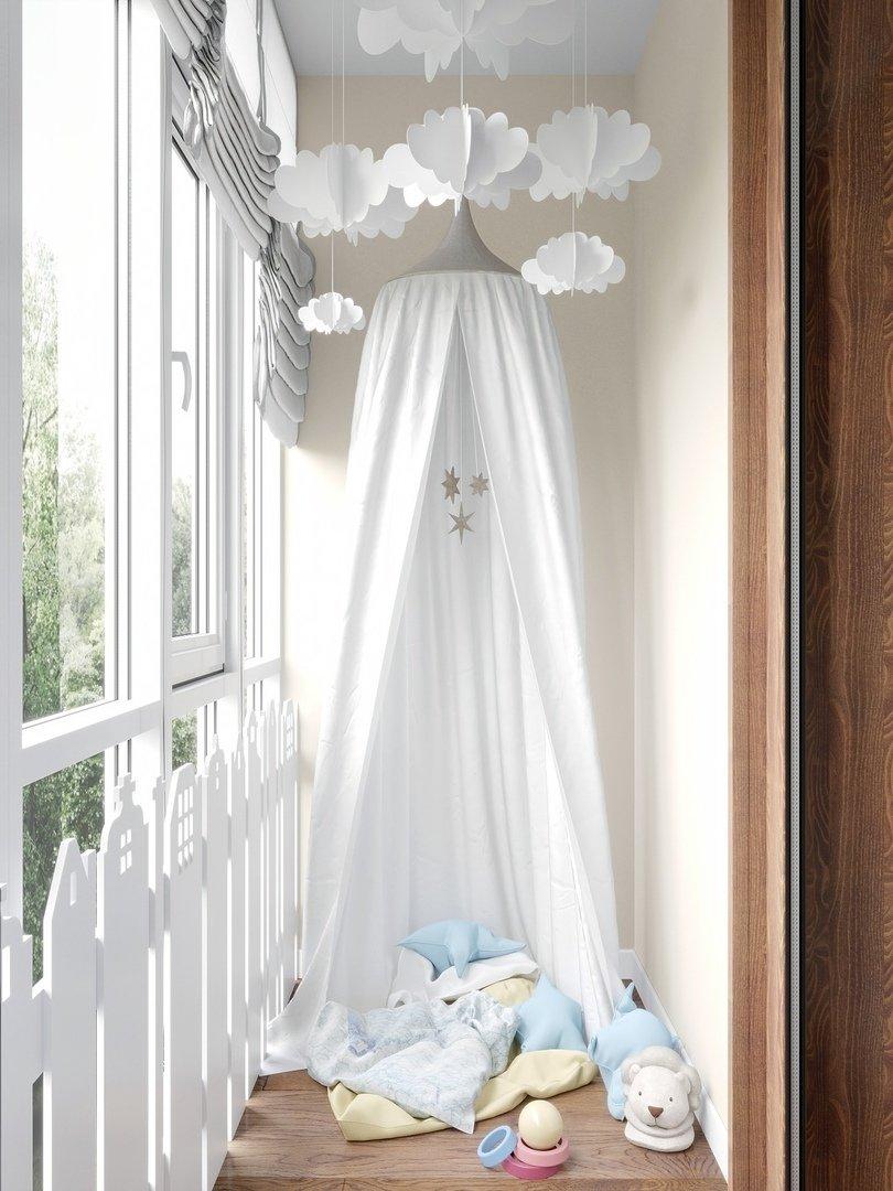 Фотография: Балкон в стиле Современный, Квартира, Проект недели, Химки, Монолитный дом, 3 комнаты, 60-90 метров, Анна Русскина – фото на INMYROOM