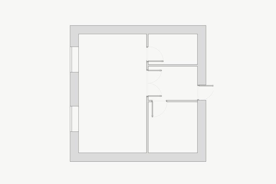 Фотография: Планировки в стиле , Квартира, Цвет в интерьере, Дома и квартиры, Белый – фото на InMyRoom.ru