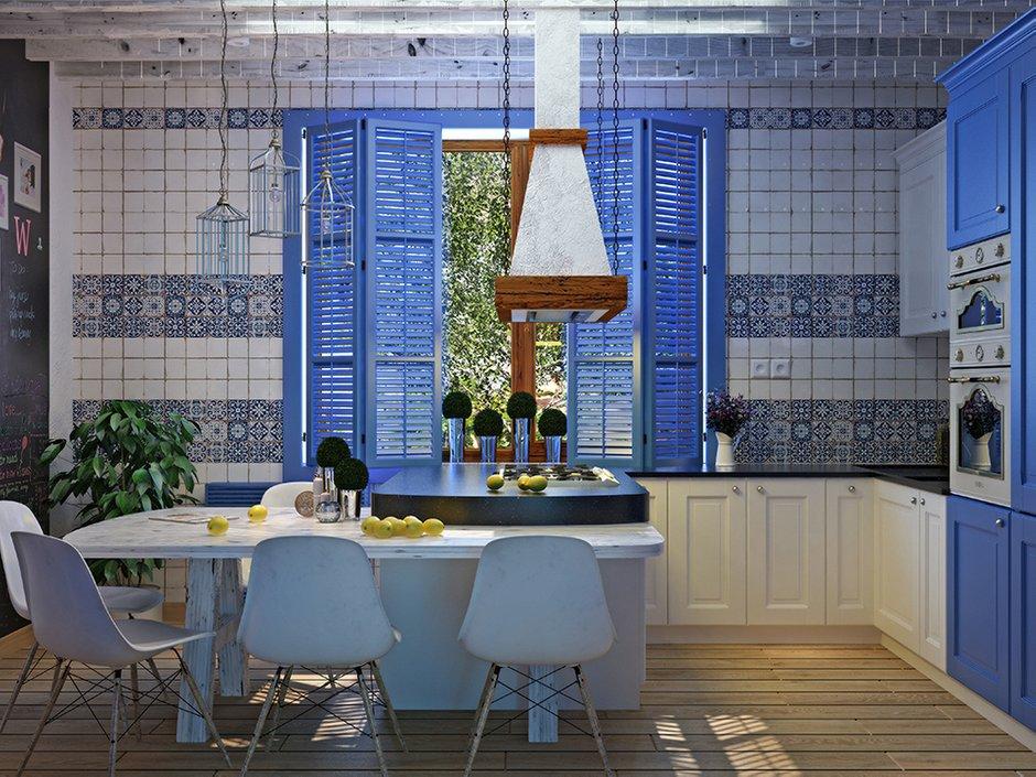 Фотография: Кухня и столовая в стиле Прованс и Кантри, Восточный, Декор интерьера, Дом, Декор, Цвет в интерьере, Дома и квартиры, Средиземноморский, Греция – фото на INMYROOM