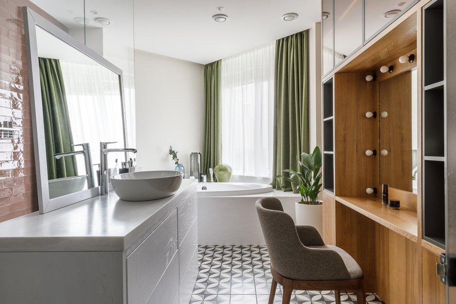 Фотография: Ванная в стиле Современный, Квартира, Проект недели, Москва, Архитектурная студия «ЧАДО», 4 и больше, Более 90 метров – фото на INMYROOM