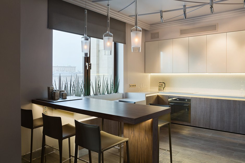 Фотография: Кухня и столовая в стиле Лофт, Современный, Квартира, Дома и квартиры, Проект недели, Москва – фото на INMYROOM