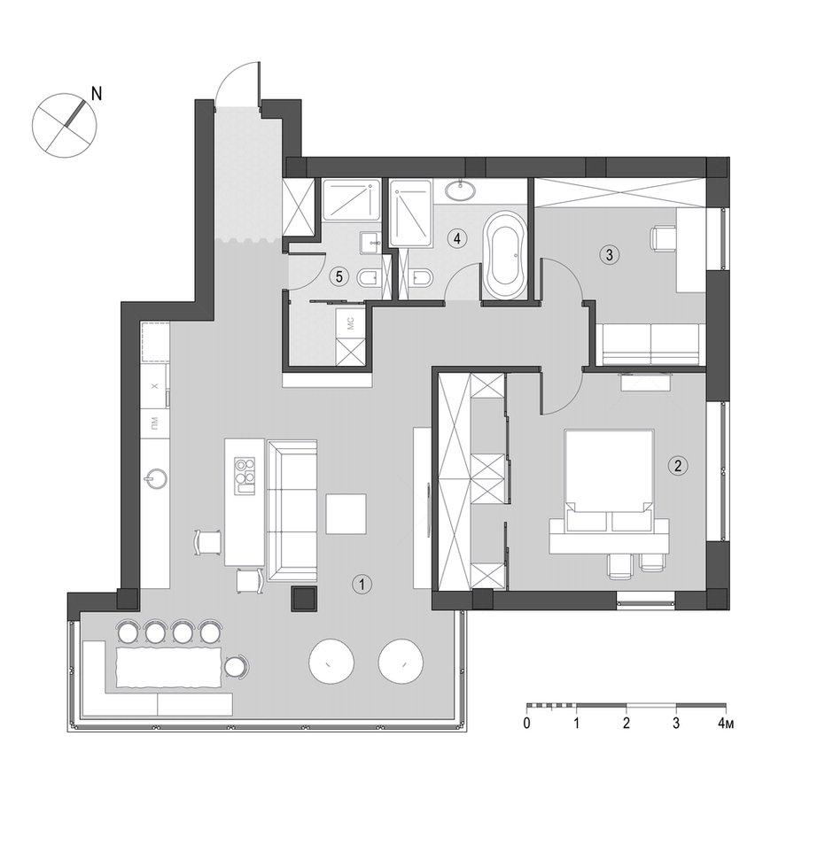 Фотография: Планировки в стиле , Квартира, Проект недели, Денис Соколов, SVOYA STUDIO – фото на INMYROOM