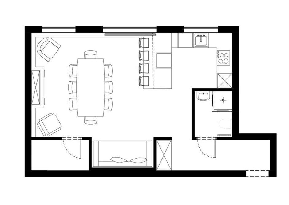 Фотография: Планировки в стиле , Современный, Квартира, Студия, Проект недели, 40-60 метров, Малика Баранбаева – фото на INMYROOM