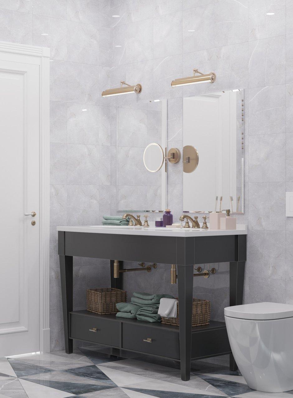 Фотография: Ванная в стиле Классический, Современный, Квартира, Проект недели, Москва, Монолитный дом, 3 комнаты, Более 90 метров, Тор-Ард – фото на INMYROOM
