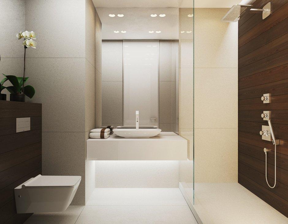 Фотография: Ванная в стиле Восточный, Малогабаритная квартира, Квартира, Дома и квартиры, Минимализм, Переделка – фото на INMYROOM