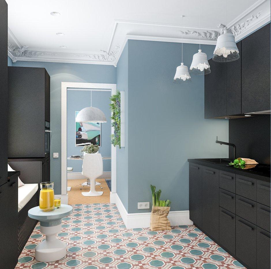 Фотография: Кухня и столовая в стиле Скандинавский, Малогабаритная квартира, Квартира, Проект недели, Марина Саркисян, Хельсинки, 2 комнаты, до 40 метров – фото на INMYROOM