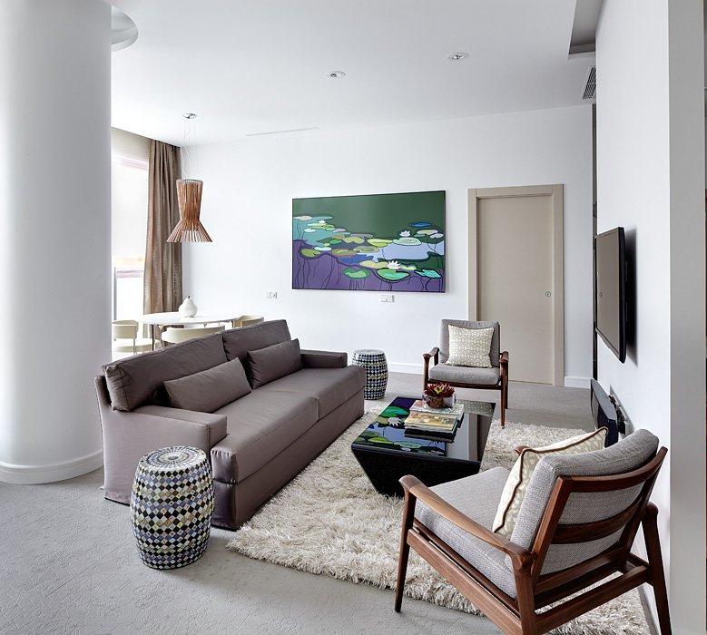 Фотография: Гостиная в стиле Восточный, Квартира, BoConcept, Дома и квартиры, Проект недели – фото на INMYROOM