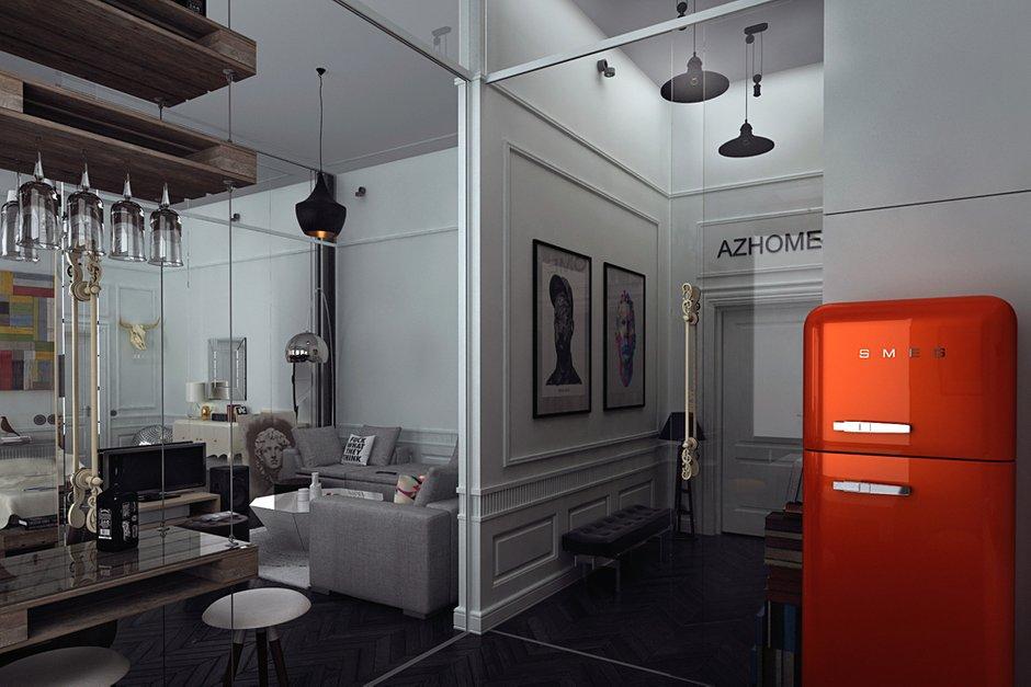 Фотография: Кухня и столовая в стиле Лофт, Эклектика, Квартира, Дома и квартиры, Проект недели – фото на InMyRoom.ru