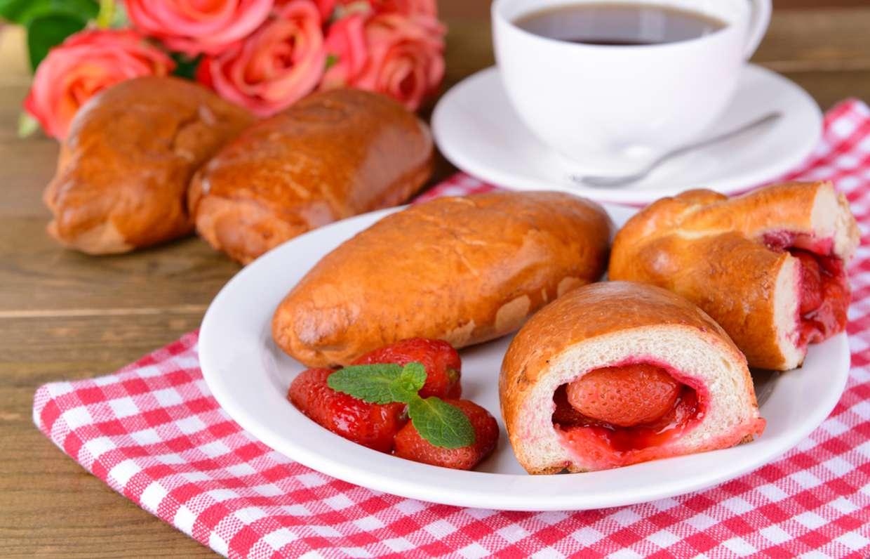 примеры дизайна булочки с клубникой фото рецепт родным основным языком