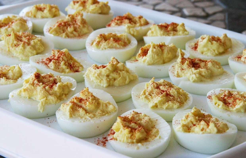 Закуска из вареных яиц рецепты с фото