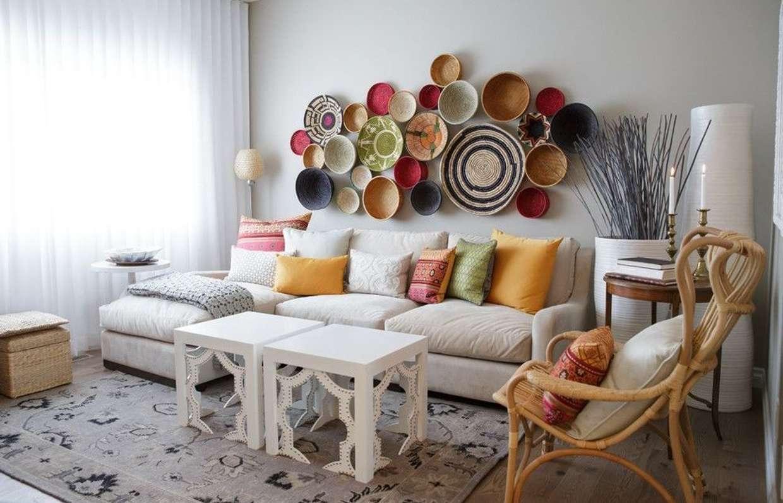 декор стен в квартире фото идеи помощью