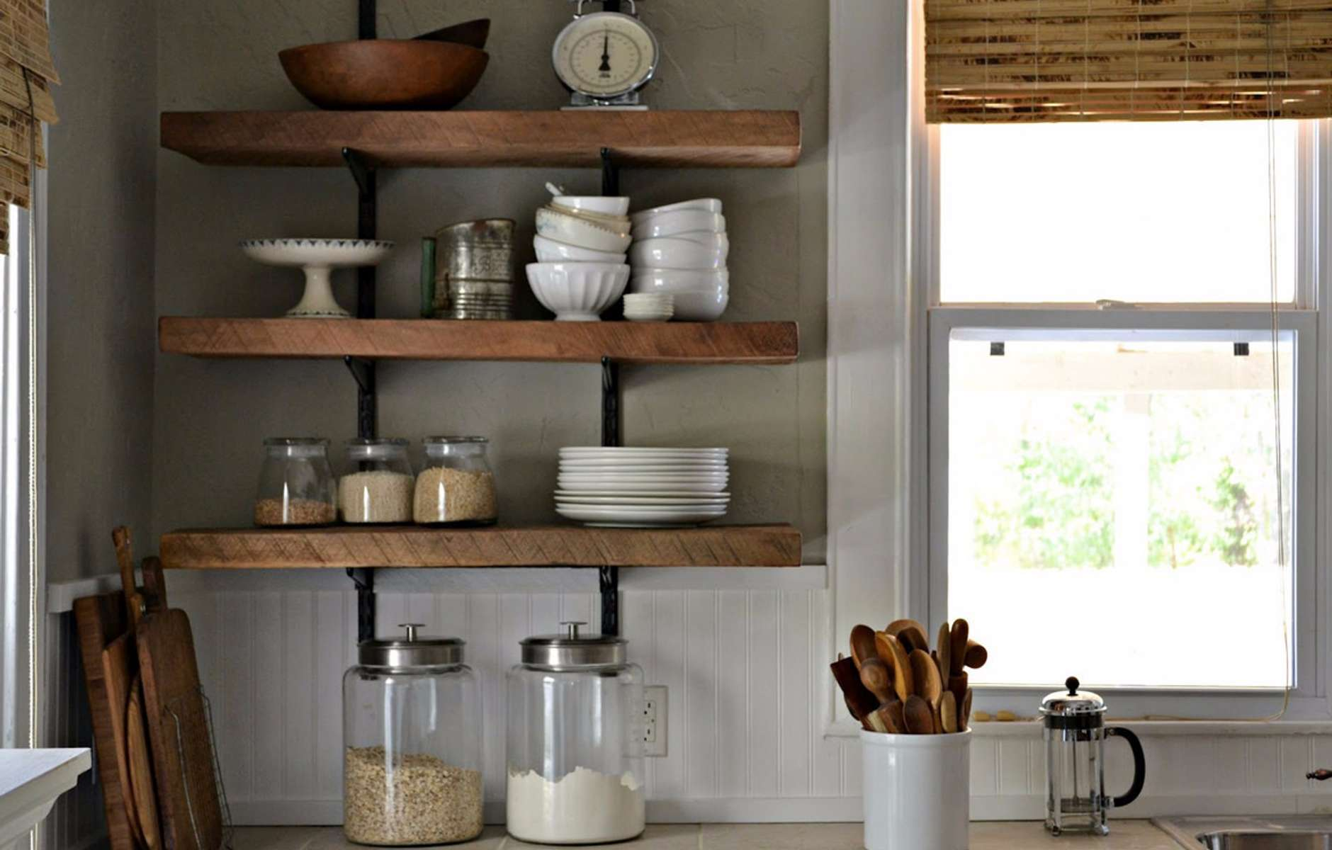 kitchen wall shelves - 896×743