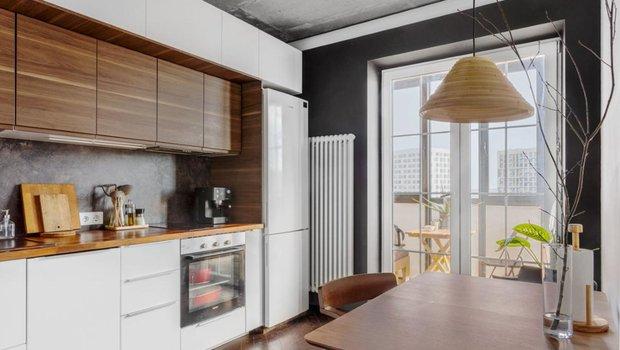 Как дизайнеру удалось на 44 м² разместить изолированную кухню, гостиную и спальню