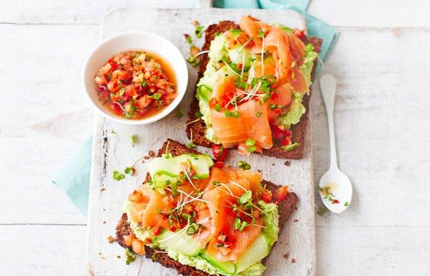 Тост с авокадо и лососем - кулинарный пошаговый рецепт с фото • INMYROOM  FOOD